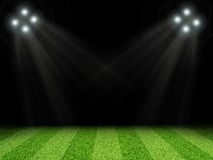 Stadium with bright lights, without indexing Royalty Free Stock Photos