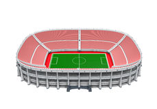 Stadium Building Isolated. On white background. 3D render Royalty Free Stock Images