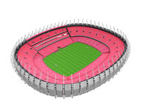 Stadium Building Isolated. On white background. 3D render Royalty Free Stock Photography