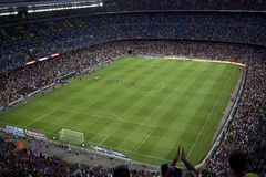 Stadium Camp Nou Stock Photos