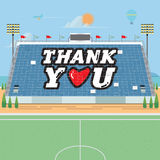 Stadium card stunts. thank you -  Stock Photography