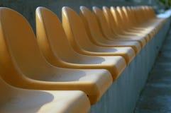 Stadium chairs. Chairs on football stadium Royalty Free Stock Image