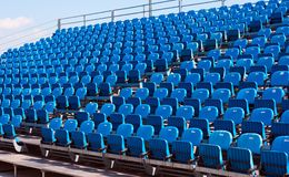 Stadium chairs Stock Images