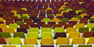 Stadium chairs Royalty Free Stock Photos