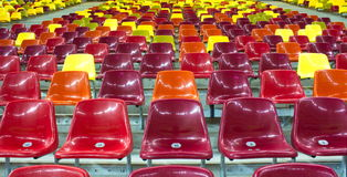 Stadium chairs Royalty Free Stock Images