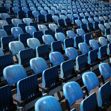 Stadium chairs Royalty Free Stock Image