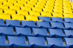Stadium Chairs Royalty Free Stock Photo
