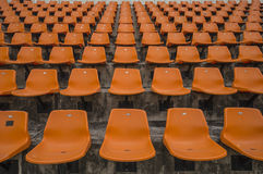 Stadium chairs. Stadium chair in football stadium Stock Images