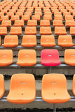 stadium chairs, representing individuality Royalty Free Stock Photography