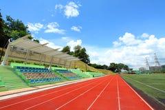 Stadium chairs and running tracks Stock Photo