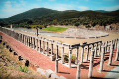 Stadium in the city of Ancient Messina, Greece Royalty Free Stock Images