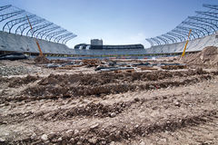 Stadium in construction Stock Photos