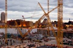 Stadium Construction. Construction on New Stadium in Minneapolis Minnesota, July 2014 Stock Photos
