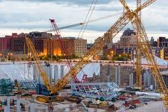 Stadium Construction. Construction on New Stadium in Minneapolis Minnesota, July 2014 Stock Image