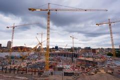 Stadium Construction. Construction on New Stadium in Minneapolis Minnesota, July 2014 Royalty Free Stock Photos