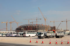 Stadium construction in Qatar Royalty Free Stock Images