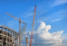 Stadium Construction Site Royalty Free Stock Images