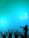 Stadium Crowd. A crowd of people at a concert Royalty Free Stock Photography