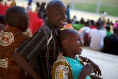 Stadium Crowd with Children Stock Photo