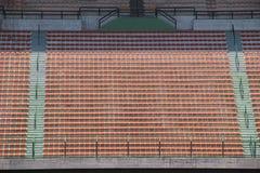 Stadium czerwieni siedzenia Zdjęcia Royalty Free