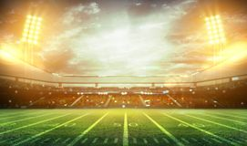 stadium 3d rendering Obrazy Royalty Free
