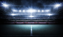 Stadium, 3d rendering. The imaginary football stadium is modeled and rendered royalty free stock images