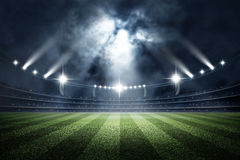 Stadium, 3d rendering. The imaginary stadium is modelled and rendered royalty free stock photos