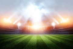 Stadium, 3d rendering. The imaginary stadium is modelled and rendered Stock Images