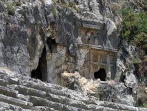 Stadium des griechisch-romanischen Theaters in der Türkei Lizenzfreie Stockfotos