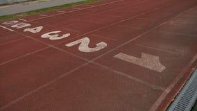 Stadium digits treadmill running brown start rubber sport. Stadium digits treadmill running brown start rubber stock video