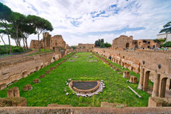 The Stadium of Domitian at the Palatine Stock Photos