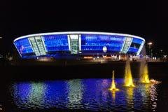 Stadium Donbass Arena. Night shot stadium Donbass Arena Stock Photos
