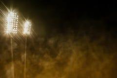 Stadium dym i światła Zdjęcie Stock