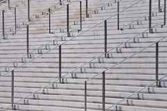 Stadium en leuning in herhaald patroon stock afbeelding