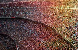 Stadium. Fans at the big football stadium Stock Images