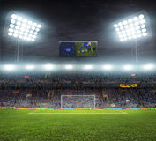 Stadium with fans Royalty Free Stock Image