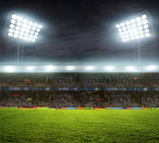 Stadium with fans Stock Photography