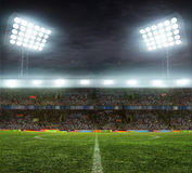 Stadium with fans Royalty Free Stock Photo