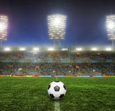 Stadium with fans Royalty Free Stock Photos