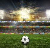 Stadium with fans Stock Image