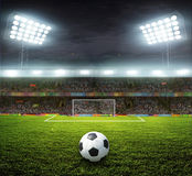 Stadium with fans Stock Images