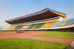 Stadium - Field and tribunes Stock Photography