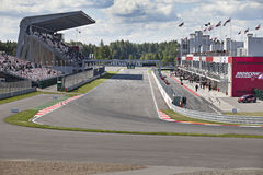 Stadium filled with people in Moscow Raceway Stock Photo