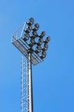 Stadium floodlight. The stadium floodlight , blue sky Royalty Free Stock Photos
