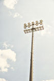 Stadium floodlight. Stock Photography