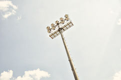 Stadium floodlight. Sport and fitness Stock Images