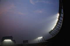 Stadium floodlights at night time, Beijing, China Stock Images