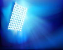 The stadium floodlights. Vector illustration. Royalty Free Stock Image