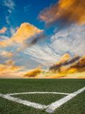 Stadium football Stock Image