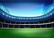 Stadium football soccer goal light royalty free illustration